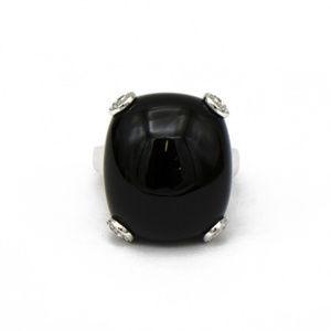 Ladies Large Black Onyx Ring